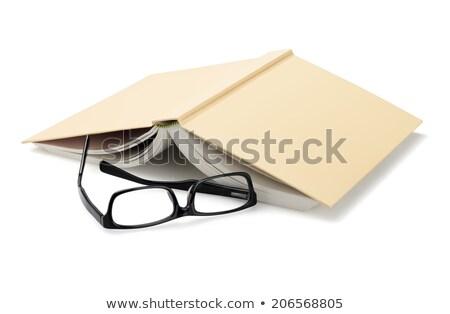 眼鏡 図書 白 プラスチック レンズ ストックフォト © dezign56