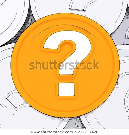 dólar · cuestión · oro · símbolo · rojo · signos · de · interrogación - foto stock © stuartmiles