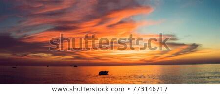 небесный · пейзаж · облака · Blue · Sky · свет · фон - Сток-фото © pzaxe