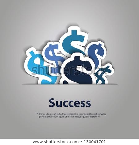 Signe du dollar bleu vecteur icône design web Photo stock © rizwanali3d