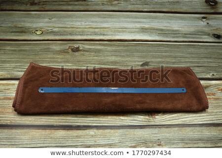 небольшой ржавые изолированный белый древесины строительство Сток-фото © michaklootwijk
