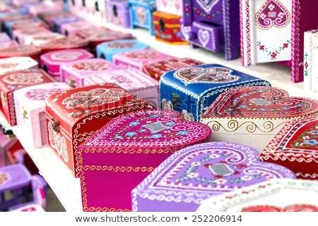Gift boxes Croatian souvenir Stock photo © smuki