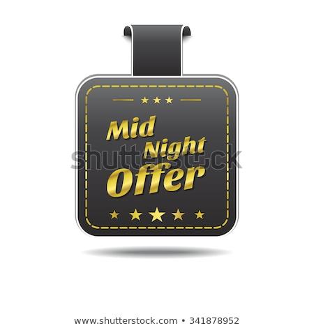 Medianoche ofrecer dorado vector icono diseno Foto stock © rizwanali3d