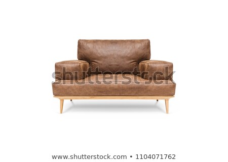 isolé · brun · luxueux · fauteuil · mur · mode - photo stock © ozaiachin