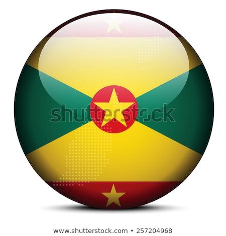 карта точка шаблон флаг кнопки Гренада Сток-фото © Istanbul2009