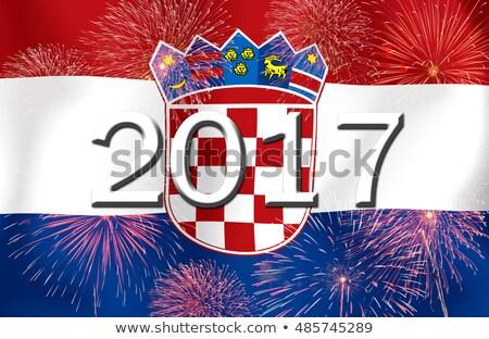 Bandiera brucia Croazia guerra crisi fuoco Foto d'archivio © michaklootwijk