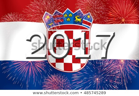Bandeira ardente Croácia guerra crise fogo Foto stock © michaklootwijk