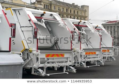 Szemét teherautók munka szeméttelep teherautó ipari Stock fotó © Witthaya