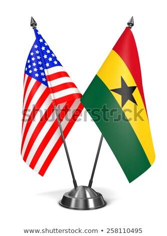 usa and ghana   miniature flags stock photo © tashatuvango
