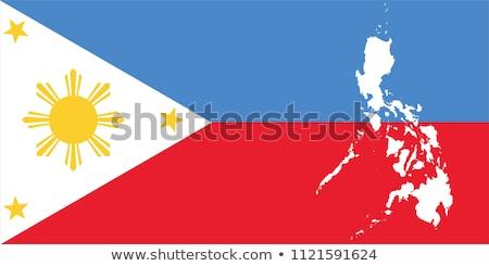 Kaart vlag knop republiek Filippijnen vector Stockfoto © Istanbul2009