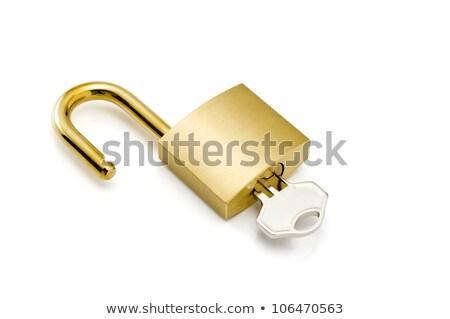 lakat · makró · kulcs · fém · acél · kulcsok - stock fotó © make