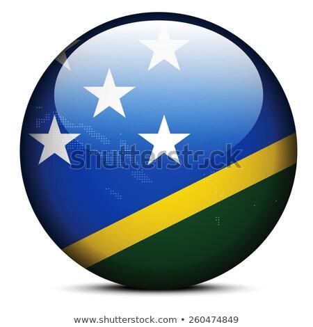 Pokaż kropka wzór banderą przycisk Wyspy Salomona Zdjęcia stock © Istanbul2009