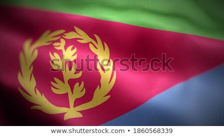 люди флаг Эритрея изолированный белый толпа Сток-фото © MikhailMishchenko