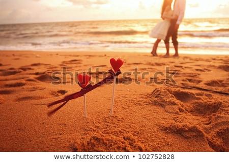романтические пару идеальный медовый месяц брак небе Сток-фото © majdansky