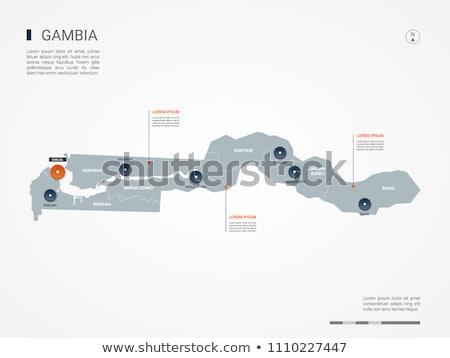 orange button with the image maps of button gambia stock photo © mayboro
