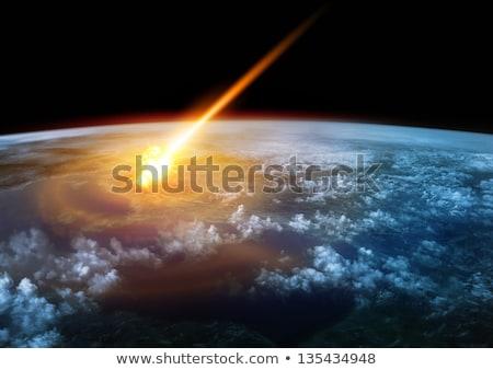 隕石 惑星 スペース 表示 空 世界中 ストックフォト © sdecoret