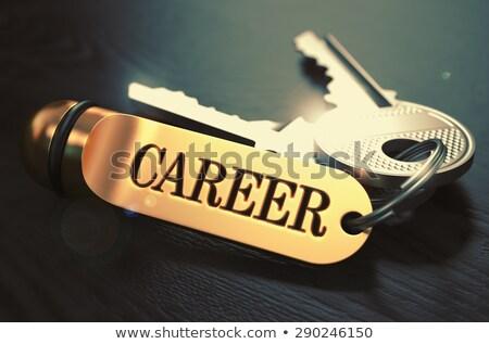 keys to career concept on golden keychain stock photo © tashatuvango
