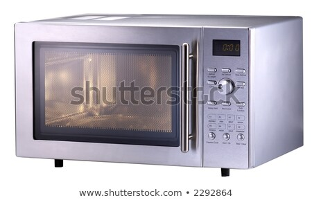 stylish microwave oven isolated stock photo © ozaiachin