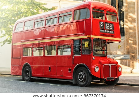 rouge · doubler · bus · Londres · occupés · rue - photo stock © andreykr