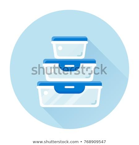 Сток-фото: пластиковых · изолированный · белый · продовольствие · окна · чистой