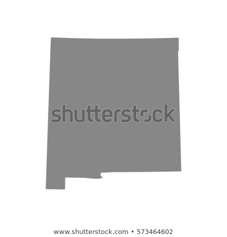 Harita New Mexico simgeler kalp bayrak hedef Stok fotoğraf © retrostar