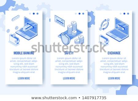 banco · trancar · seguro · armário · ícone - foto stock © rizwanali3d