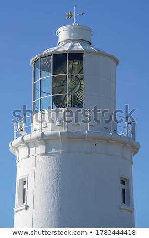 Kafa deniz feneri okyanus cornwall gökyüzü su Stok fotoğraf © chris2766