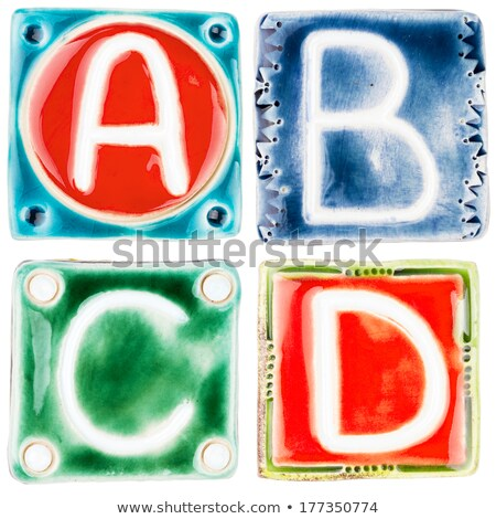 Handmade ceramic letter C  Stock photo © Taigi