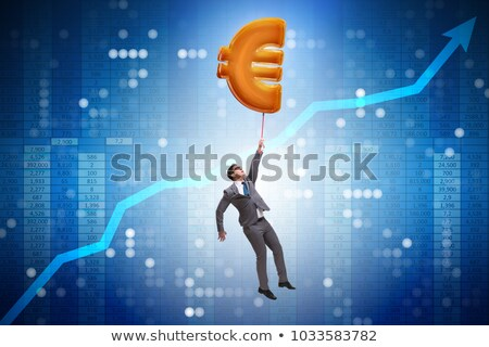 businessman flying with currency Stock photo © get4net