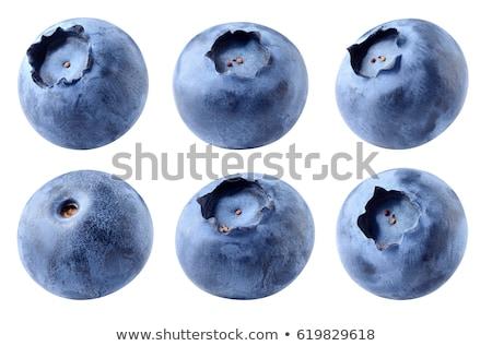 Single Fresh Blueberry Isolated on the White Background Stock photo © maxpro