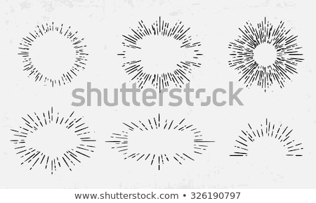 collection of trendy hand drawn retro bursting design elements stock photo © netkov1
