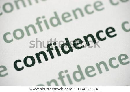 уверенность слово мужчины стороны черный информации Сток-фото © fuzzbones0