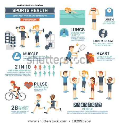 ingesteld · info · graphics · communie · fitness · 3D - stockfoto © netkov1