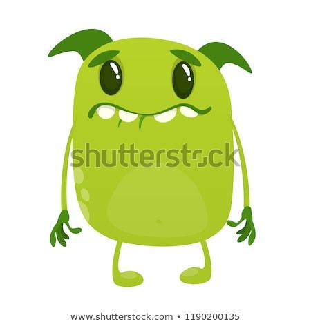 Potężny kolekcja zielone wektora ikona projektu Zdjęcia stock © rizwanali3d