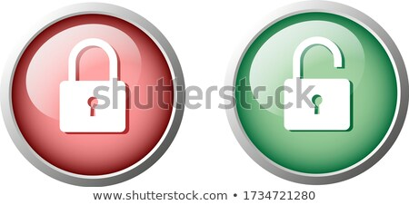 Unlock Circular Green Vector Web Button Icon Stock photo © rizwanali3d