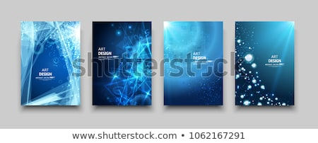 Vector book cover template with shining bulb Stock photo © orson