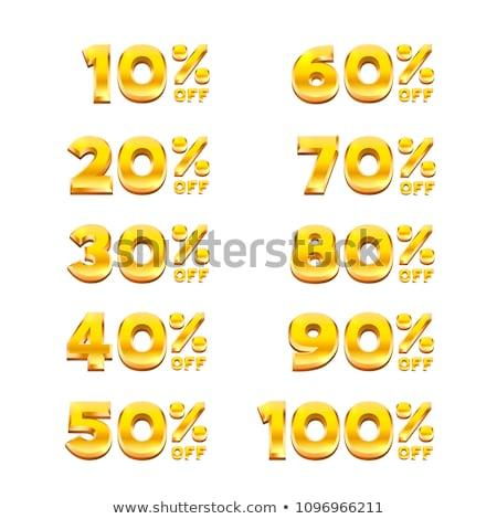 100 procent oryginał złoty wektora ikona Zdjęcia stock © rizwanali3d