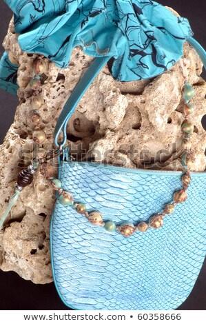 Worek kamień sieczka niebieski Zdjęcia stock © artfotoss