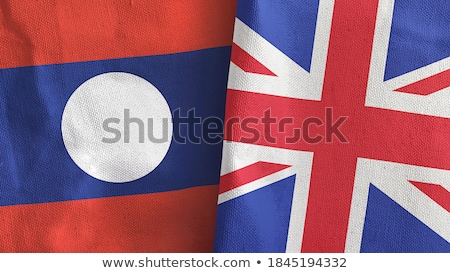 United Kingdom and Laos Flags Stock photo © Istanbul2009