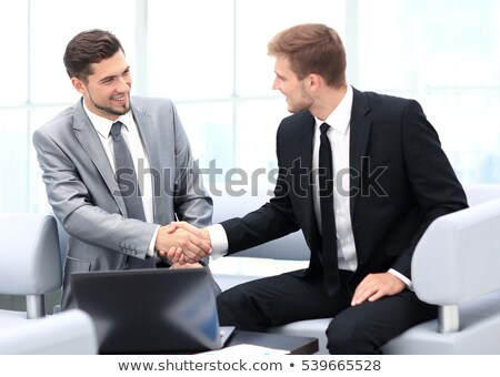 Two businessmen greet Stock photo © Paha_L