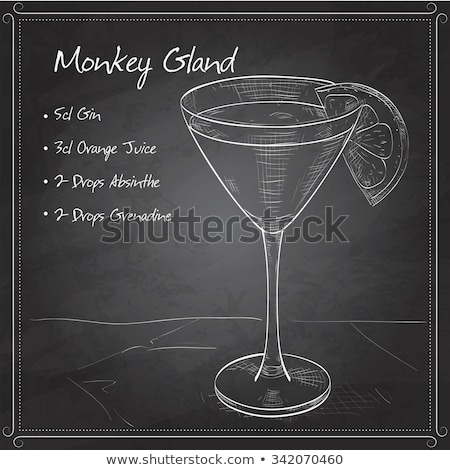 Cocktail Monkey Gland on black board Stock photo © netkov1