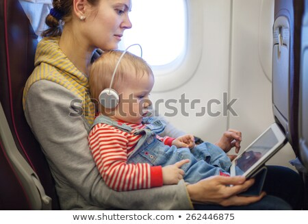 baby with headphones 2 stock photo © Paha_L