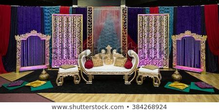 henna · színpad · dekoráció · buli · virágok · esküvő - stock fotó © esatphotography