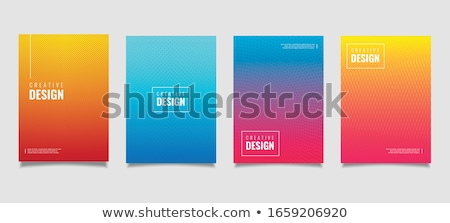 Blue and green tech geometric flyer background Stock photo © saicle