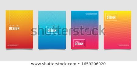 flyer · brochure · modello · modello · di · progettazione · azzurro · stile - foto d'archivio © saicle
