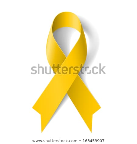 黄色 · リボン · 医師 · 女性 · 戦う · 痛み - ストックフォト © adrenalina