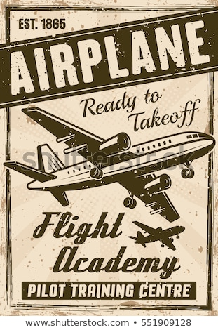 Jet airliner on retro poster Stock photo © tracer