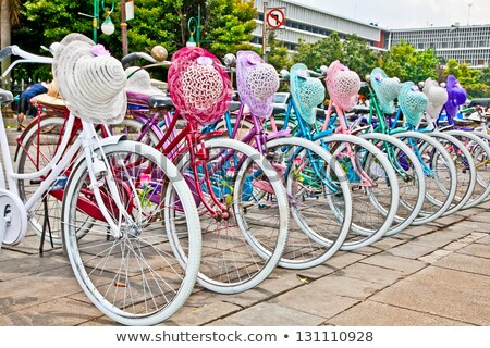 Colorful bicycles for rent in Jakarta, Indonesia Stock photo © Kzenon