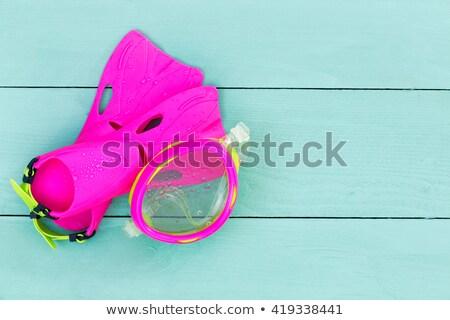 Colorido vibrante rosa ninos gafas de protección esquina Foto stock © ozgur