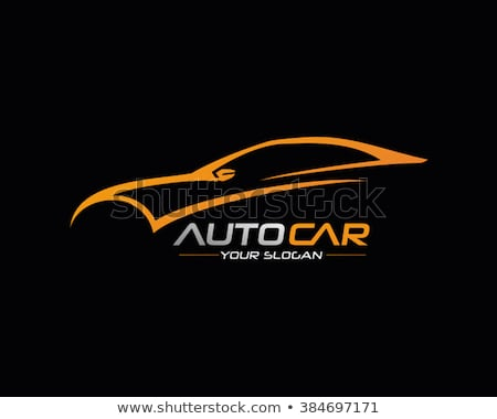 autó · autó · logo · sablon · sebesség · vektor - stock fotó © ggs
